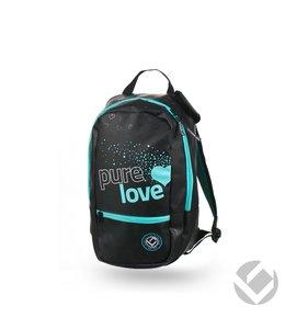 Brabo Backpack Junior Pure Love zwart/aqua