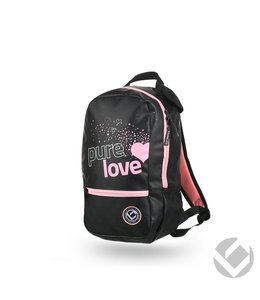 Brabo Backpack Junior Pure Love zwart/roze