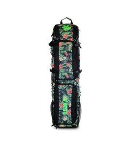 Osaka SP Large Stickbag - Navy Flowers/Groen