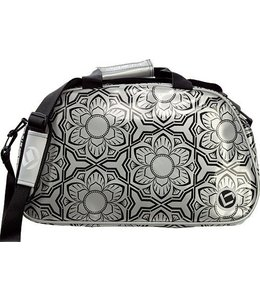 Brabo Shoulderbag Flowers Zwart/Zilver