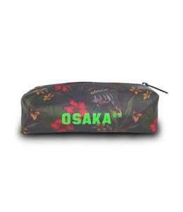 Osaka SP Pencil Case - Grijs Flowers/Groen