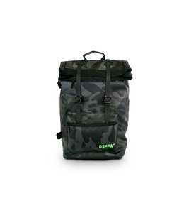 Osaka AT Large Backpack Zwart Camo/Groen