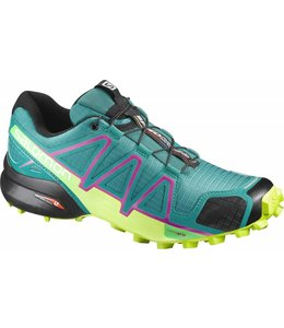 Salomon Speedcross 4 Dames Deep Peaco/Lime Pun