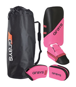 Grays G100 Goalie Set Junior Schwarz/Pink