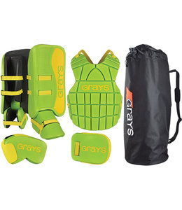 Grays G90 Goalie Set Junior Lime/Fluo Geel