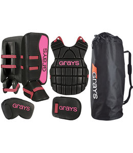 Grays G90 Goalie Set Junior Schwarz/Pink