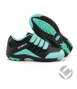 Brabo Velcro shoe Zwart/Aqua