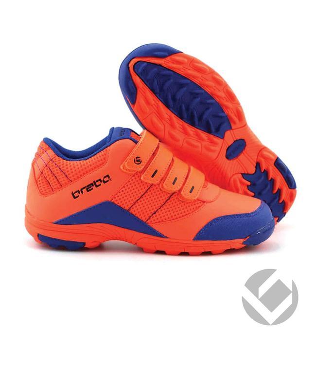 Brabo Velcro shoe Neon Orange/Blau