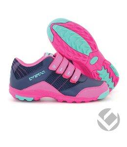 Brabo Velcro shoe Navy/Roze/Aqua