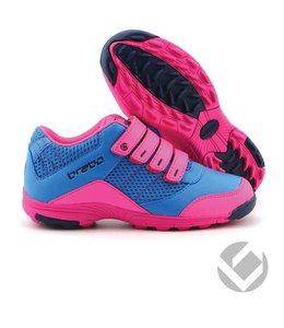 Brabo Velcro shoe Zwart/Roze/Navy