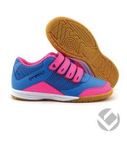 Brabo Indoor velcro shoe Zwart/Roze/Navy