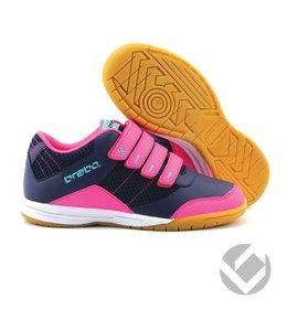 Brabo Indoor velcro shoe Navy/Pink/Aqua