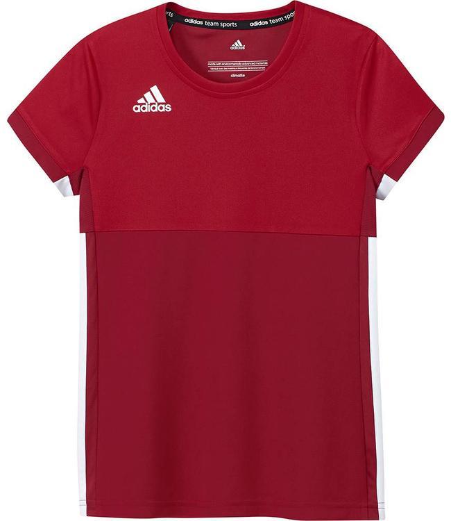 Adidas T16 'Oncourt' short sleeve shirt Girls rood