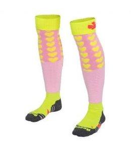 Reece Curtain Sokken Roze/Neon Geel