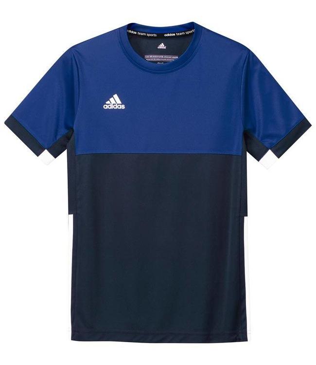 Adidas T16 Short Sleeve Tee Boys Navy