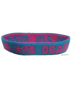 Osaka Bracelet Elastic Pink/Blau