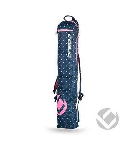 Brabo Stickbag Storm Triangles Navy/Pink