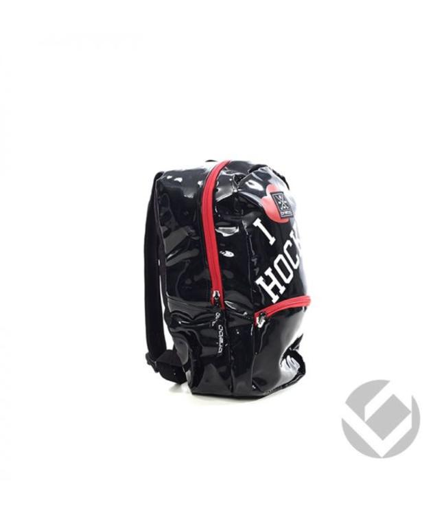 Brabo Backpack Junior I Heart Hockey Schwarz