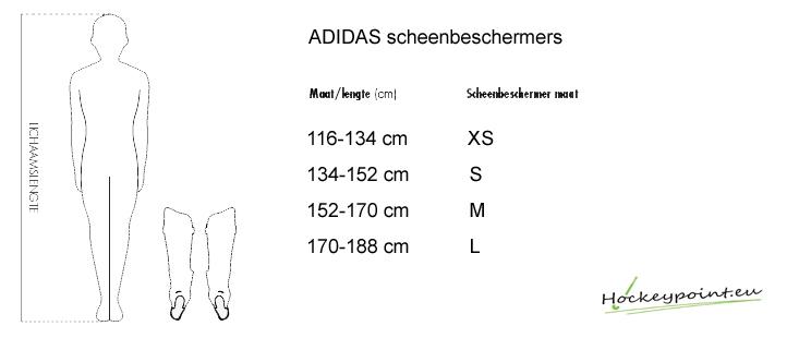 adidas schoenen tabel