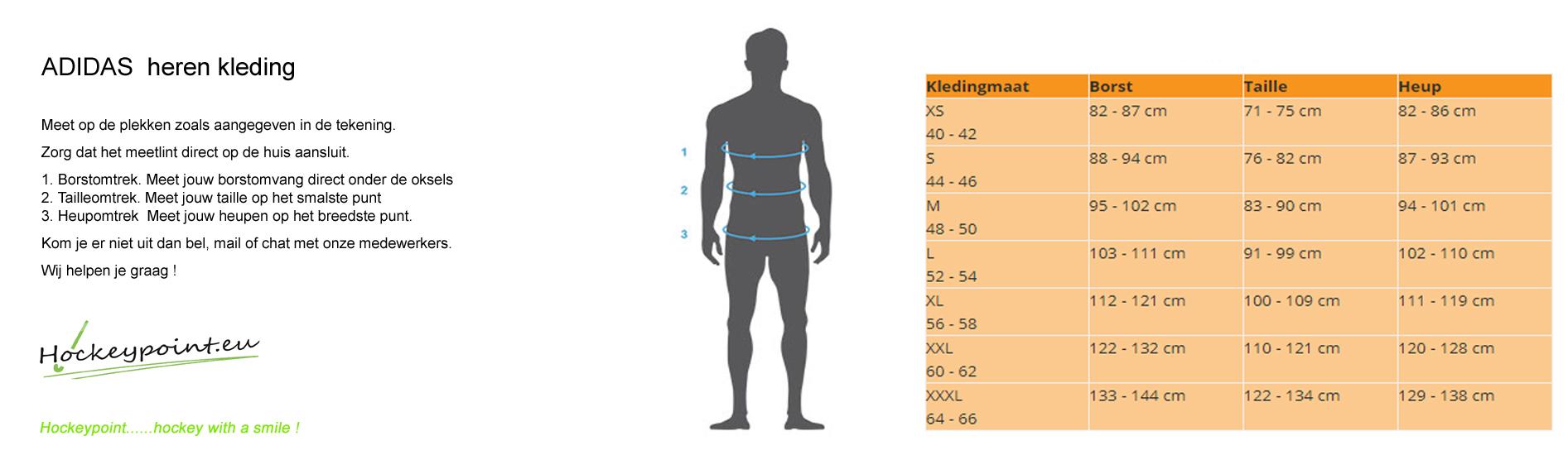 Größentabelle Schuhe / Kleidung / Schutz - Hockeypoint