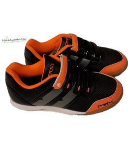 Brabo Velcro Indoor Schoen Zwart/Grijs/Oranje