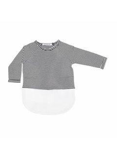 MINGO COMBI DRESS | b/w stripes