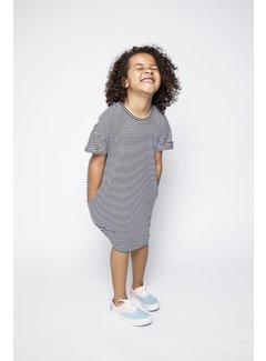 MINGO T-SHIRT DRESS | b/w stripes