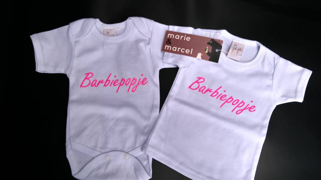 Barbiepopje T-shirt of romper