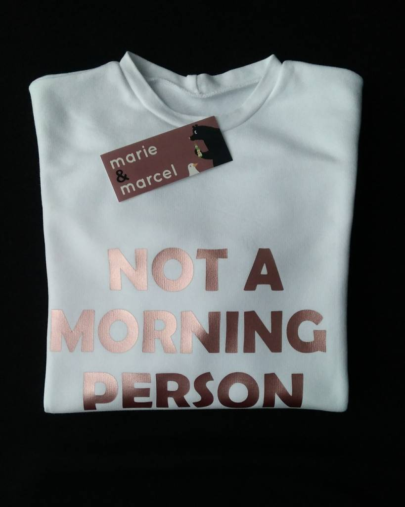 Sweater 'NOT A MORNING PERSON'
