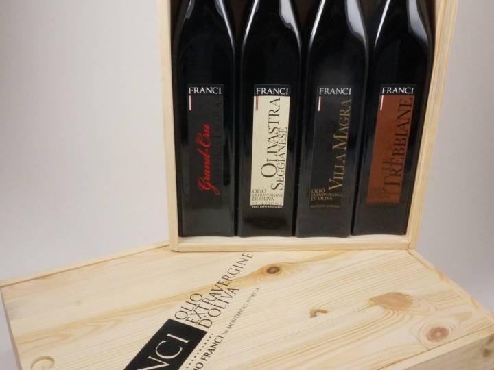 Frantoio Franci | Italy | Tuscany Frantoio Franci Tasting set of 4 x 500 ml Extra Virgin Olive Oil