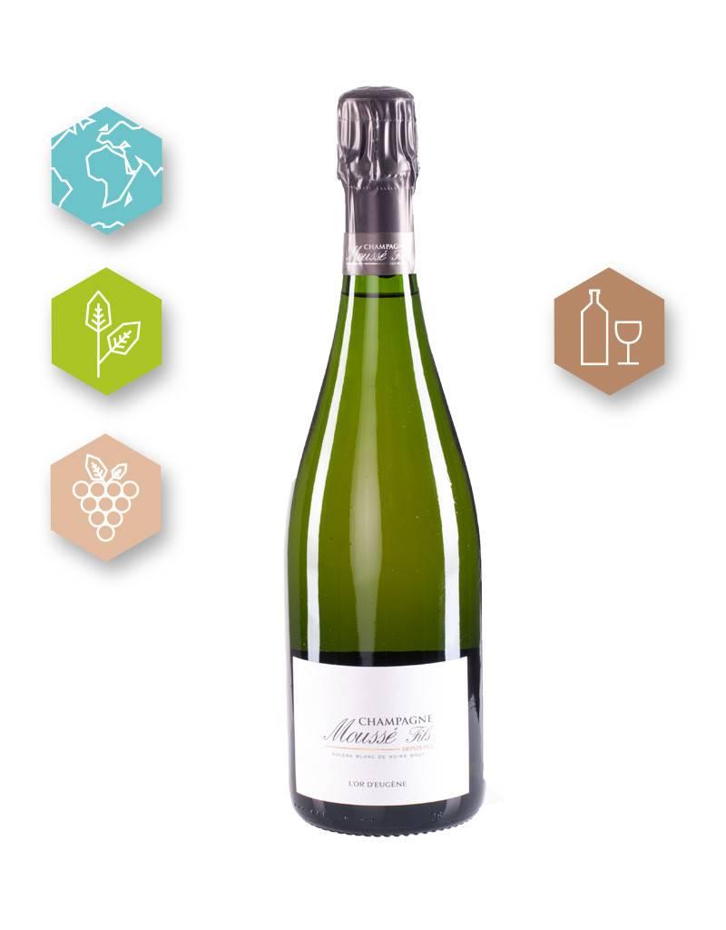 Champagne Moussé Fils | France | Champagne Champagne Moussé Fils | Cuvée  L'Or d'Eugène Champagne A.O.C. | Brut | (80% Pinot Meunier, 20 % Pinot Noir | 8g/l)