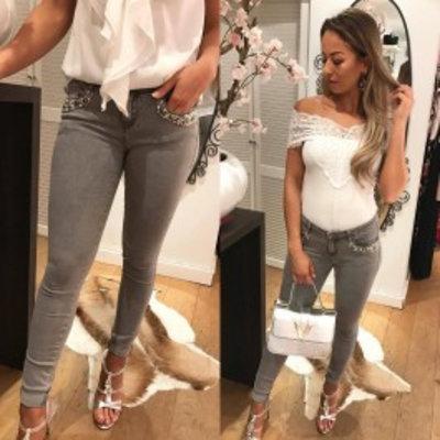 Jaimy Xclusive diamond jeans grey