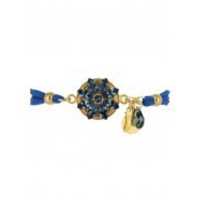 Godly Jewels Bracelet Flower Blue