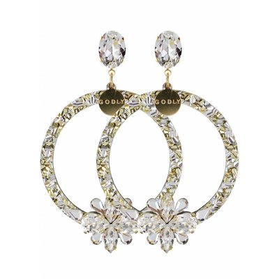 Godly Jewels Hoops No.1 Crystal