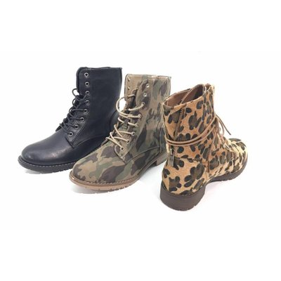 Jaimy Leopard furry boots
