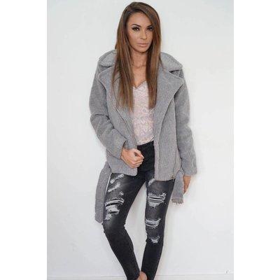 Jaimy Teddy jacket grey