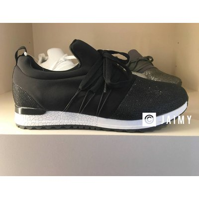 Jaimy Yezz shine sneakers black