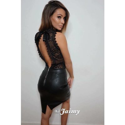 Jaimy Xclusive open lace body black