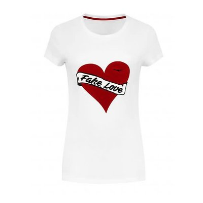 NIKKIE Fake love T-shirt white
