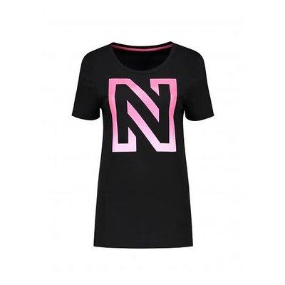 NIKKIE N logo T-shirt black