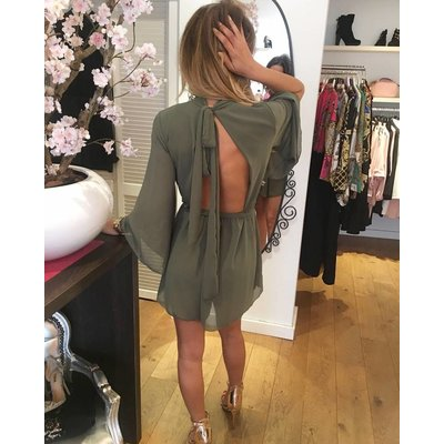 Jaimy Multi way playsuit army green