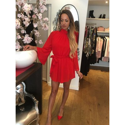 Jaimy Multi way playsuit red