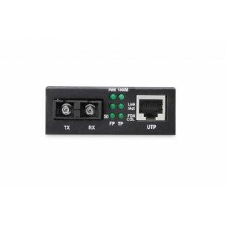 Media Converter Singlemode  10/100/1000 RJ45 / SC  10 km