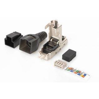 RJ45 plug Cat.6A  shieled field assembly