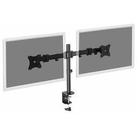 Universele dubbele beeldschermstandaard met klembevestiging