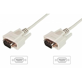 RS232 DB9 M/M kabel