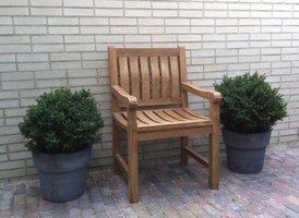 Teak tuinstoel Bergamo blokstoel