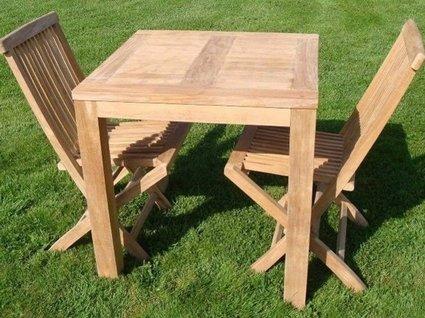 Teak houten tuintafel vierkant venice cm puurteak tuinmeubelen