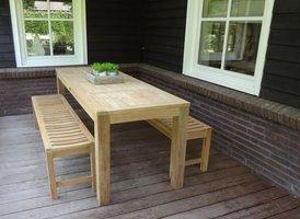 Smalle tafel teak Verona 75x220cm