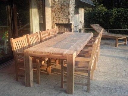 Teak houten tuintafel napoli cm puurteak tuinmeubelen